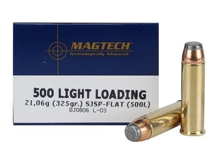 Magtech Sport Ammunition 500 S&W Magnum 325 Grain Light Loading Semi Jacketed Soft Point Box of 20