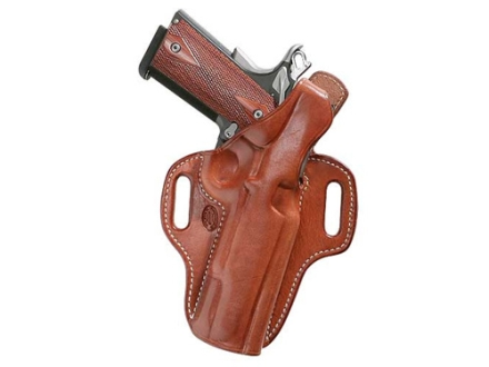 El Paso Saddlery Strongside Select Thumb Break Outside the Waistband Holster Right Hand 1911 Officer Leather Russet Brown