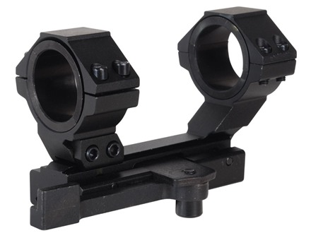 NcStar 1-Piece Quick-Release Scope Mount Weaver-Style with Integral 30mm Rings and 1&quot; Inserts Flat-Top AR-15 Matte