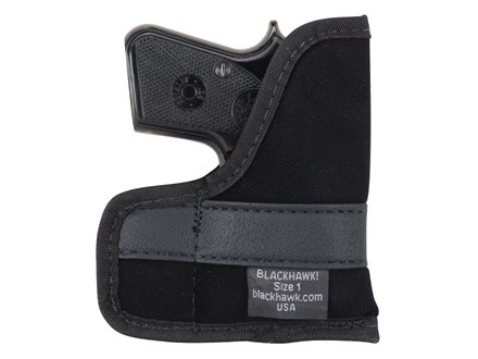 BlackHawk Pocket Holster Ambidextrous Small Frame Semi-Automatic 22 Caliber, 25 ACP 4-Layer Laminate Black