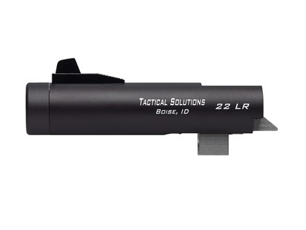 "Tactical Solutions Trail-Lite Barrel Browning Buck Mark 22 Long Rifle 1 in 16"" Twist 4"" Aluminum Threaded Muzzle Matte Black"