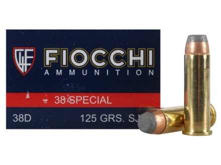 Fiocchi Shooting Dynamics Ammunition 38 Special 125 Grain Semi-Jacketed Soft Point Box of 50