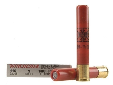 Winchester Super-X Ammunition 410 Bore 3&quot; 1/4 oz Rifled Slug Box of 5