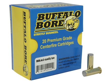 Buffalo Bore Ammunition 38 Special 150 Grain Lead Wadcutter Box of 20