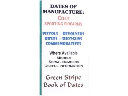 "Green Stripe Data Books ""Colt"" Book by Firing Pin Enterprises"