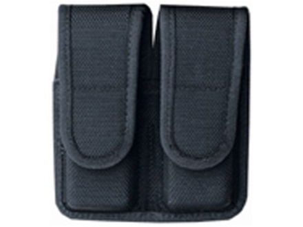 Bianchi 7302 Double Magazine Pouch Glock 20, 21, HK USP 40, 45 Hidden Snap Closure Nylon Black