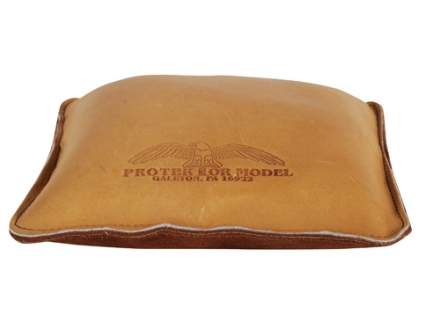Protektor Small Pillow Shooting Rest Bag Leather Tan Filled