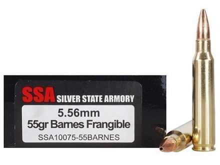 Silver State Armory Ammunition 5.56x45mm NATO 55 Grain Barnes RRLP Frangible Lead-Free Box of 20