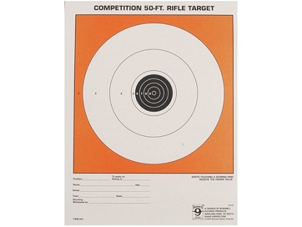 Hoppe&#39;s Single Bull Target 50&#39; Junior Rifle Package of 20