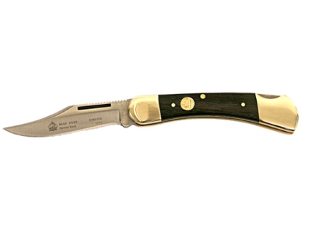 "Puma SGB Series Bear Folding Knife 2.8"" Clip Point German 440A Stainless Steel Blade Wood Handle Brown"