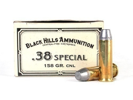 Black Hills Cowboy Action Ammunition 38 Special 158 Grain Lead Conical Nose Box of 50