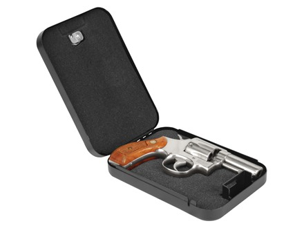 "Lockdown Compact Handgun Vault Pistol Security Box 8-1/2"" x 5-1/2"" x 2"" Steel Black"