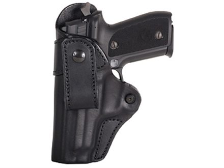 Blackhawk Inside the Waistband Holster Left Hand Leather Belt Loop H&K P2000, USP Compact Leather Black