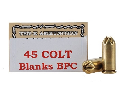 Ten-X Ammunition 45 Colt (Long Colt) Pistol Blank BPC Box of 50