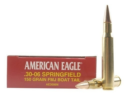 Federal American Eagle Ammunition 30-06 Springfield 150 Grain Full Metal Jacket Box of 20