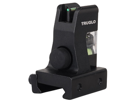 TRUGLO TFO Detachable Front Sight AR-15, LR-308 Gas Block Height Steel Fiber Optic Green with Illumination