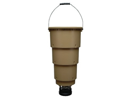 Moultrie All-In-One Hanging Game Feeder 5 Gallon Polymer Brown