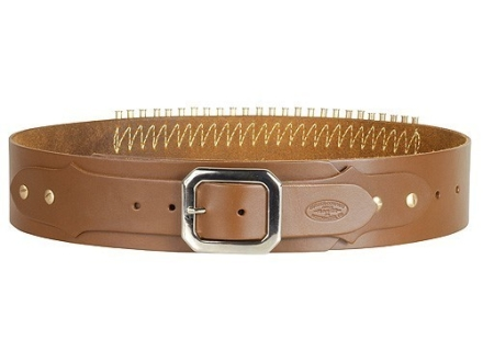 Hunter Adjustable Cartridge Belt 22 Caliber Leather Tan