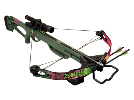 Horton Zombie RIP Crossbow Package with 4x 32mm Mult-A-Range Crossbow Scope Zombie Green