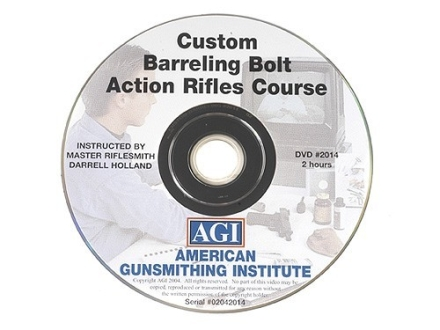 "American Gunsmithing Institute (AGI) Video ""Custom Barreling Bolt Action Rifles"" DVD"