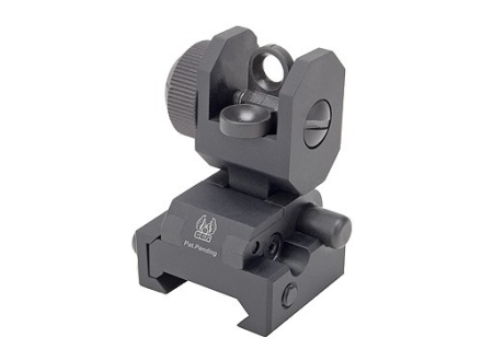 GG&amp;G Spring-Actuated Flip-Up Rear Sight AR-15 Flat-Top Aluminum Matte
