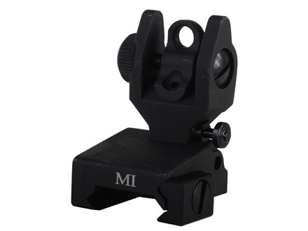Midwest Industries Flip-Up Low-Profile Same Plane Rear Sight AR-15 Aluminum Black