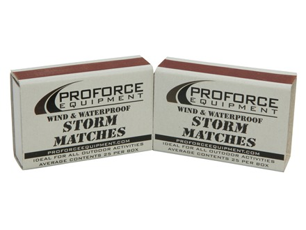 Proforce Wind &amp; Waterproof Wooden Storm Matches Box of 25 2 Pack