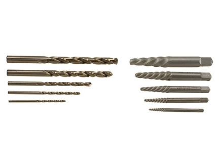 Hanson Screw Extractor Set and Drill Bit Set 10 Piece