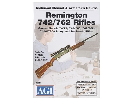 American Gunsmithing Institute (AGI) Technical Manual &amp; Armorer&#39;s Course Video &quot;Remington 740/760 Series Rifles&quot; DVD