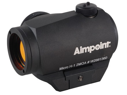 Aimpoint Micro H-1 Red Dot Sight 2 MOA with Weaver-Style Mount Matte