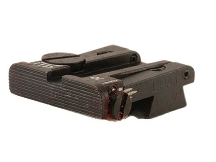 LPA TPU Target Rear Sight Browning Hi-Power with .285&quot; Dovetail Steel Blue