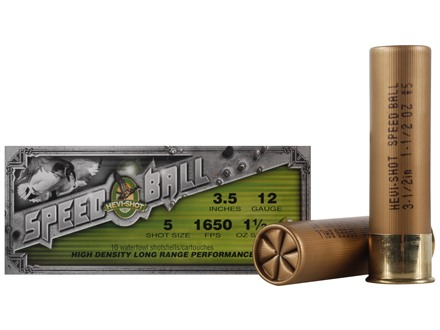 Hevi-Shot Speedball Waterfowl Ammunition 12 Gauge 3-1/2&quot; 1-1/2 oz #5 Non-Toxic Shot Box of 10