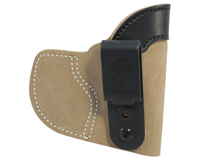 DeSantis Pocket-Tuk Inside the Waistband or Pocket Holster Right Hand Springfield XDS, Kahr K, P, MK, and PM Series, Kel-Tec PF9, Sig P290 Leather Brown