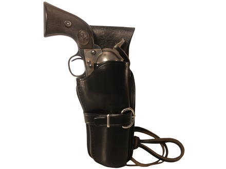 Triple K 114 Cheyenne Western Holster Right Hand Colt Single Action Army, Ruger Blackhawk, Vaquero 5.5&quot; Barrel Leather Black