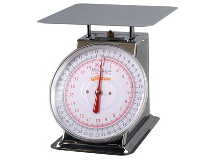 Weston Flat Top Dial 44 lb Meat Scale Stainless Steel
