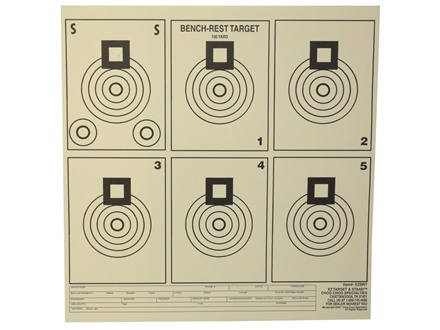 EZ Target Bench Rest Practice Target 11.25&quot; x 11.25&quot; Paper Package of 20