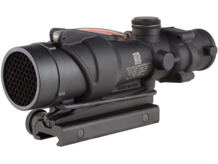 Trijicon ACOG TA31RCO BAC Rifle Scope 4x 32mm A4 Military Version Dual-Illuminated Red Chevron 223 RemingtonReticle with TA51 Flattop Mount Matte