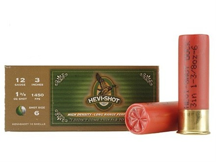 "Hevi-Shot Duck Waterfowl Ammunition 12 Gauge 3"" 1-3/8 oz #6 Non-Toxic Shot"