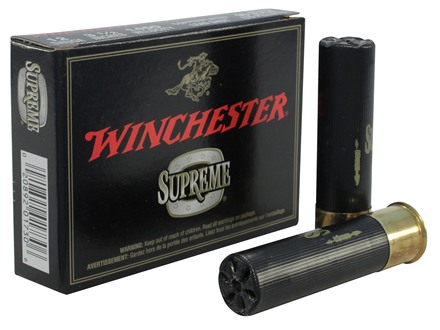 "Winchester Double X Magnum Ammunition 12 Gauge 3-1/2"" Buffered 00 Copper Plated Buckshot 15 Pellets Box of 5"