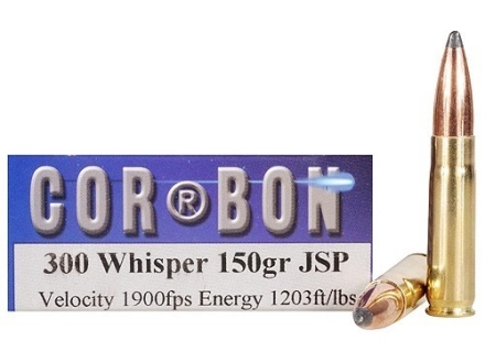 Cor-Bon Hunter Ammunition 300 Whisper 150 Grain Jacketed Soft Point Box of 20