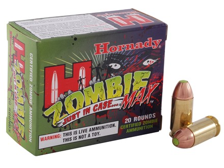 Hornady Zombie Max Ammunition 45 ACP 185 Grain Z-Max Flex Tip eXpanding Box of 20