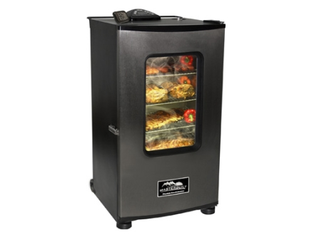 "Masterbuilt 30"" 4-Tray Electric Smoker with RF Remote Stainless Steel"