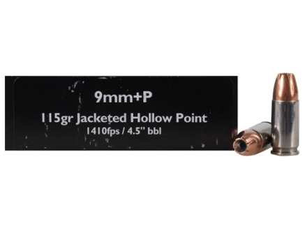 Doubletap Ammunition 9mm Luger +P 115 Grain Jacketed Hollow Point