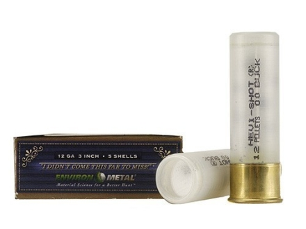 "Hevi-Shot Dead Coyote Ammunition 12 Gauge 3"" 00 Hevi-Shot Buckshot Non-Toxic 12 Pellets Box of 5"
