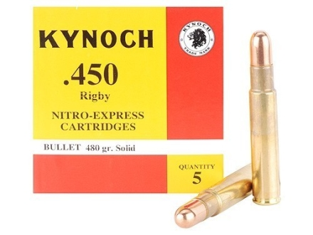 Kynoch Ammunition 450 Rigby Rimless 480 Grain Woodleigh Welded Core Solid Box of 5