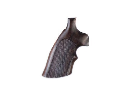 Hogue Fancy Hardwood Grips with Top Finger Groove Taurus Medium and Large Frame Revolvers Round Butt Checkered Rosewood