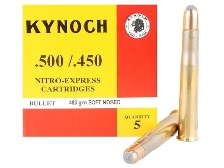 Kynoch Ammunition 500-450 Nitro Express 480 Grain Woodleigh Welded Core Soft Point Box of 5