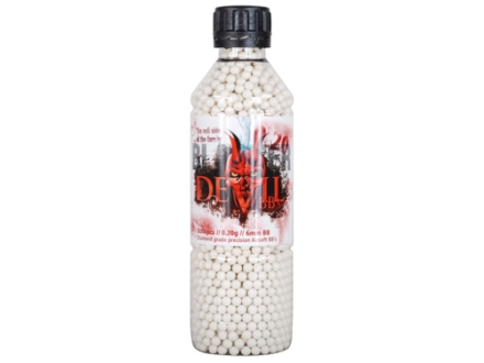 Blaster Devil Airsoft BBs 6mm .20 Gram White Bottle of 3000