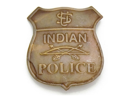 Collector's Armoury Replica Old West Indian Police Badge Brass