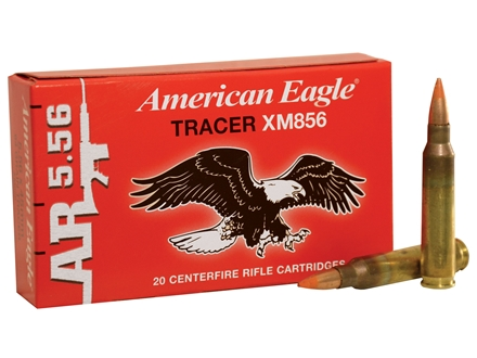 Federal American Eagle Tactical Tracer Ammunition 5.56x45mm NATO 64 Grain XM856 Full Metal Jacket Box of 20